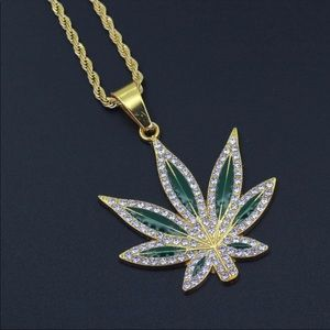 "Other - Brand New Leaf Pendant With 24"" Chain Necklace"